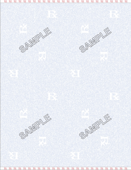 "prescription watermark paper Completed or blank prescription form which include, but are not limited to: watermarks, micro-printing, and paper on which the word ""void"" appears when copied title."
