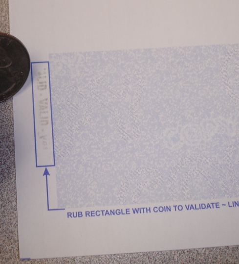 coin activated ink